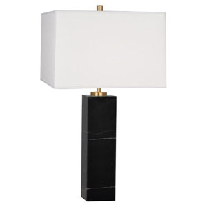 Jonathan Adler Canaan Black Marble and Antique Brass One-Light Table Lamp