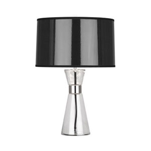 Penelope Polished Nickel and Clear Glass 20.5-Inch One-Light Table Lamp