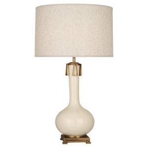 Athena Bone and Aged Brass One-Light Table Lamp