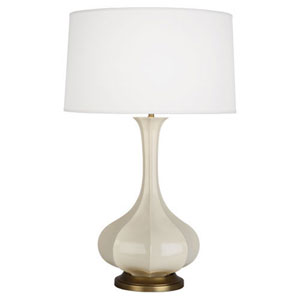 Pike Bone and Aged Brass One-Light Table Lamp
