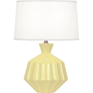 Orion Butter Yellow One-Light 17-Inch Ceramic Table Lamp