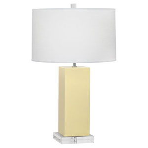 Harvey Butter and Polished Nickel 33-Inch One-Light Table Lamp