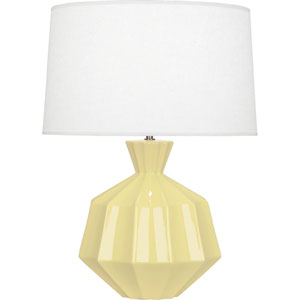 Orion Butter Yellow One-Light 27-Inch Ceramic Table Lamp