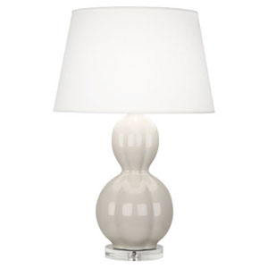 Williamsburg Randolph Bruton White and Polished Nickel One-Light Table Lamp