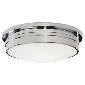 Roderick Chrome Three-Light Flush Mount