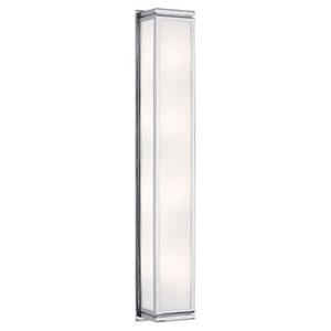 Bradley Chrome Four-Light Wall Lamp