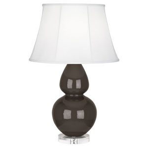 Double Gourd Coffee One-Light Table Lamp with Bell Shade