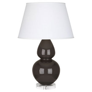 Double Gourd Coffee One-Light Table Lamp with Empire Shade