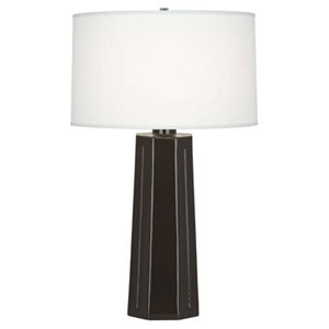 Mason Coffee and Polished Nickel One-Light Table Lamp
