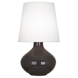 June Coffee One-Light Table Lamp with Oyster Linen Shade