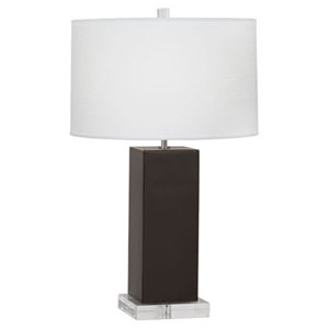 Harvey Coffee and Polished Nickel 33-Inch One-Light Table Lamp