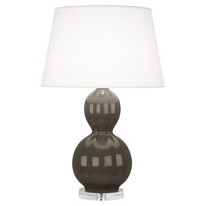 Williamsburg Randolph Carter Gray and Polished Nickel One-Light Table Lamp
