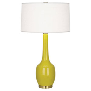 Delilah Citron and Antique Brass One-Light Table Lamp