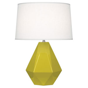 Delta Citron and Polished Nickel One-Light Table Lamp