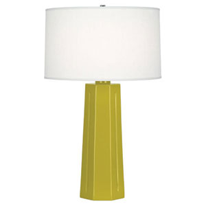Mason Citron and Polished Nickel One-Light Table Lamp