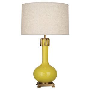 Athena Citron and Aged Brass One-Light Table Lamp