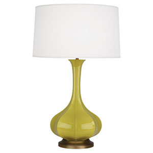 Pike Citron and Aged Brass One-Light Table Lamp