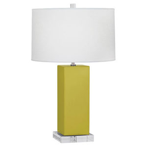 Harvey Citron and Polished Nickel 33-Inch One-Light Table Lamp