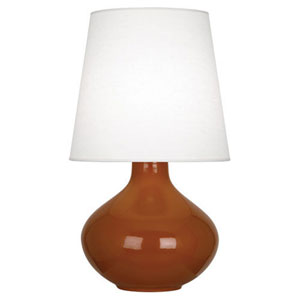 June Cinnamon One-Light Table Lamp with Oyster Linen Shade