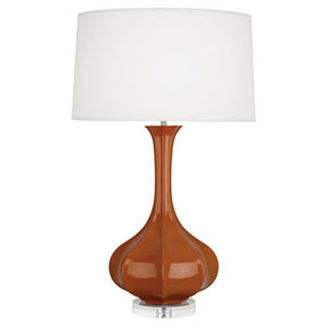 Pike Cinnamon and Polished Nickel One-Light Table Lamp