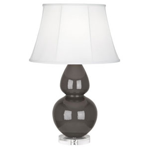 Double Gourd Charcoal One-Light Table Lamp with Bell Shade