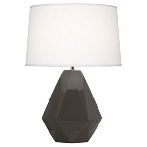 Delta Charcoal and Polished Nickel One-Light Table Lamp