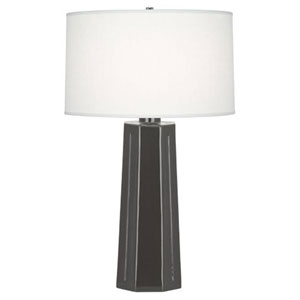 Mason Charcoal and Polished Nickel One-Light Table Lamp