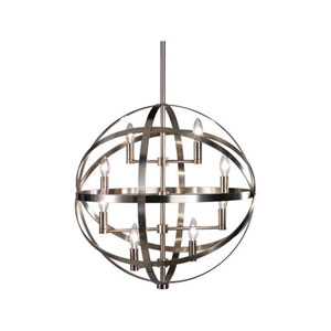 Lucy Dark Antique Nickel Eight-Light Chandelier