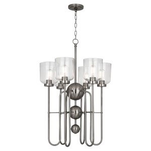 Williamsburg Tyrie Dark Antique Nickel Six-Light Chandelier