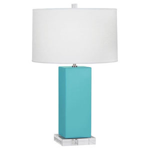 Harvey Egg Blue and Polished Nickel 33-Inch One-Light Table Lamp