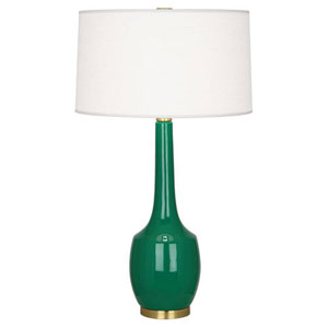 Delilah Emerald Green and Antique Brass One-Light Table Lamp