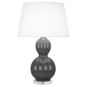 Williamsburg Randolph Lampblack and Polished Nickel One-Light Table Lamp