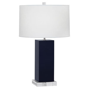 Harvey Midnight Blue and Polished Nickel 33-Inch One-Light Table Lamp