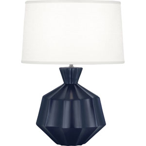 Orion Matte Midnight Blue One-Light 27-Inch Ceramic Table Lamp