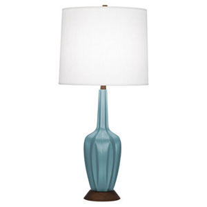 Cecilia Matte Steel Blue 36.5-Inch One-Light Table Lamp