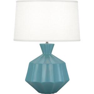 Orion Matte Steel Blue One-Light 27-Inch Ceramic Table Lamp