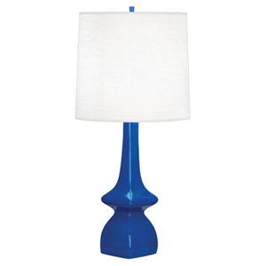 Jasmine Marine Blue Glazed Ceramic One-Light Table Lamp