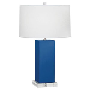 Harvey Marine Blue and Polished Nickel 33-Inch One-Light Table Lamp