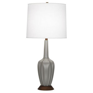 Cecilia Matte Smokey Taupe 36.5-Inch One-Light Table Lamp