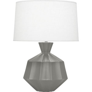 Orion Matte Smoky Taupe One-Light 27-Inch Ceramic Table Lamp