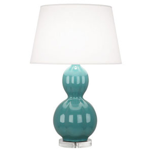 Williamsburg Randolph Mayo Teal and Polished Nickel One-Light Table Lamp