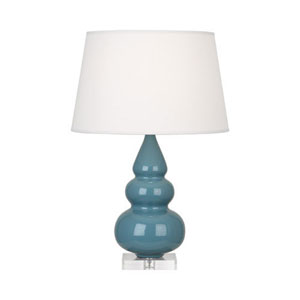 Small Triple Gourd Steel Blue One-Light Table Lamp
