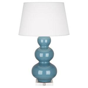 Triple Gourd Steel Blue One-Light Table Lamp
