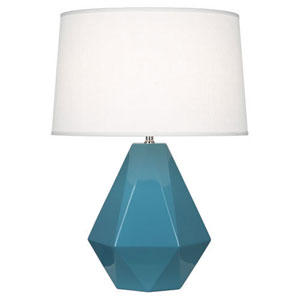Delta Steel Blue and Polished Nickel One-Light Table Lamp