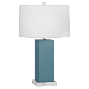 Harvey Steel Blue and Polished Nickel 33-Inch One-Light Table Lamp