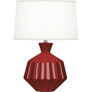 Orion Oxblood One-Light 17-Inch Ceramic Table Lamp
