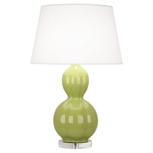 Williamsburg Randolph Parrot Green and Polished Nickel One-Light Table Lamp
