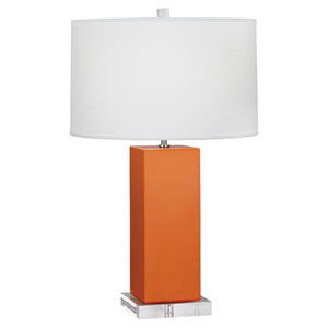 Harvey Pumpkin and Polished Nickel 33-Inch One-Light Table Lamp