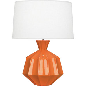Orion Pumkin Orange One-Light 27-Inch Ceramic Table Lamp