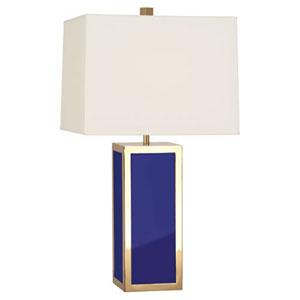 Jonathan Adler Barcelona Royal Blue and Polished Brass 28-Inch One-Light Lamp